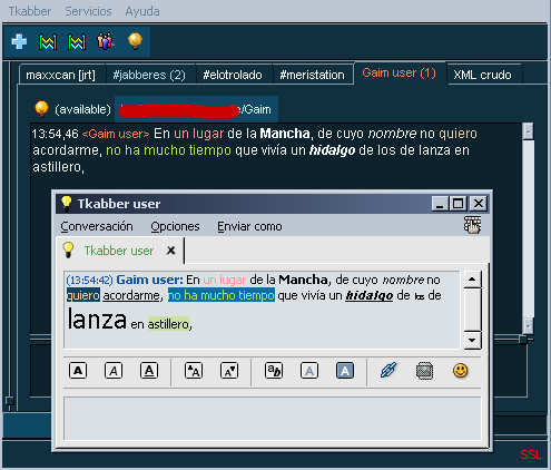 xhtml-im screenshot